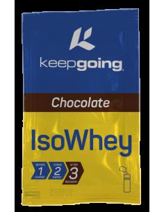ISO WHEY  Sabor-Chocolate Formato-Caja 6 monodosis